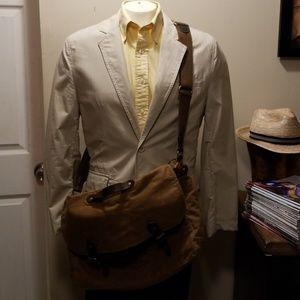 J. Crew messenger bag.